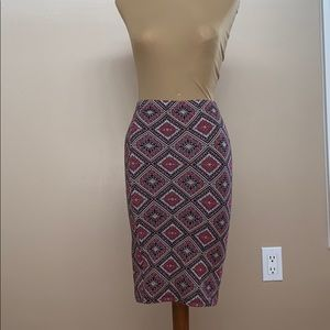 Dresses & Skirts - Patterned Stretchy Pencil Skirt